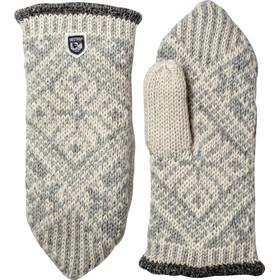 Hestra Nordic Wool Muffole, grigio/bianco